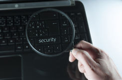 Button security Stock Photography