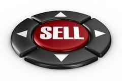 Button sell on white background Stock Photos