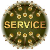 Button SERVICE Stock Images