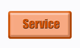 Button of service Royalty Free Stock Photo
