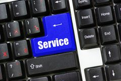 Button of service Royalty Free Stock Images
