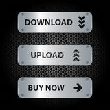 Button set. Download, upload and buy now buttons Stock Photography