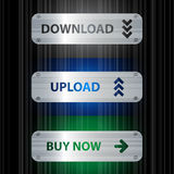 Button set. Download, upload and buy now buttons Stock Photo