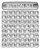 Button set. 64 icons with pictograf, vector illustration Royalty Free Stock Images