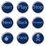 Button Set Stock Photography