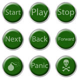 Button Set Royalty Free Stock Photos