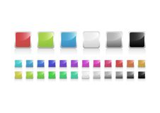 Button Set. Fresh vector buttons in 24 different colors Royalty Free Stock Photography