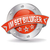 Button in a set cheaper. And volume discount vector illustration