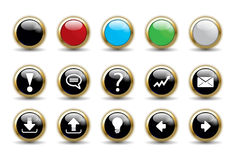 Button Set Collection with Blank Stock Images