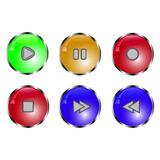 Button set with function. Funny button set with function Stock Photography