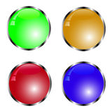 Button set. Funny button set with reflection Royalty Free Stock Photo