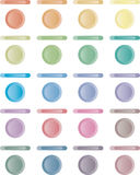 Button, set of light buttons of red, blue, green.. Royalty Free Stock Photos