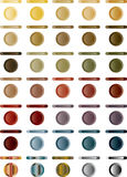 Button, set of light buttons of red, blue, grey.. Royalty Free Stock Photo