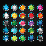 Button set. Vector buttons, icons for web, blog, icons in various colors Royalty Free Stock Photo