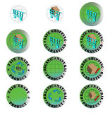 Button set - web, cart, shopping Royalty Free Stock Photo