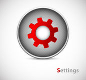 Button of settings Royalty Free Stock Photography