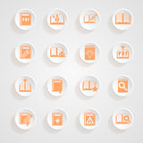 Button shadows Book icons Royalty Free Stock Image