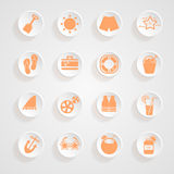 Button shadows Vacation icons Royalty Free Stock Photo