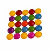 Button shaped colorful candies. Royalty Free Stock Photo