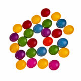 Button shaped colorful candies. Stock Image
