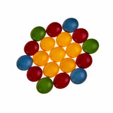 Button shaped colorful candies. Royalty Free Stock Photos