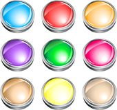 Button with shine Royalty Free Stock Images