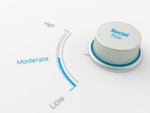 Button show moderatelevel for businesse Royalty Free Stock Photo