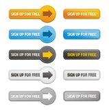 Button of sign up for free Stock Image