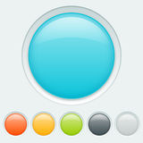 Button in six colors Stock Photos