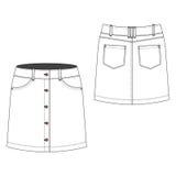 Button Through Skirt. A vector illustration of Button Through Skirt Stock Photo
