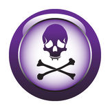 Button with skull Royalty Free Stock Images
