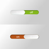 Button slider on off Stock Image