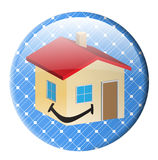 Button solar house Stock Images
