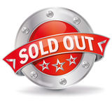 Button sold out Stock Images
