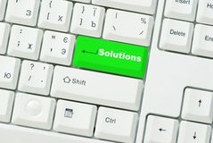 Button Solutions Royalty Free Stock Image