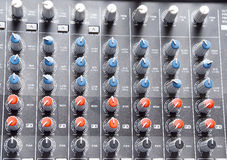 Button sound control Stock Image