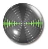 button sound waves för orben Arkivfoton