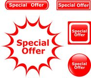 Button Special Offer glossy icons Royalty Free Stock Image