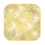 Button square New Year fireworks gold background vector. Button square New Year fireworks gold background  vector illustration Stock Images