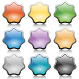 Button-Star Stock Images