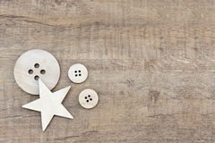 Button and Star Royalty Free Stock Photography