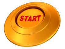 Button Start. 3d Very beautiful three-dimensional illustration Stock Image