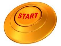 Button Start. 3d Very beautiful three-dimensional illustration Stock Photos