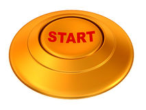 Button Start. 3d Very beautiful three-dimensional illustration Royalty Free Stock Photography