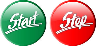 Button_start_stop Stock Images