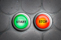 Button start and stop Royalty Free Stock Image