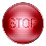 Button stop red Royalty Free Stock Image