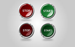 Button Stop Start Stock Image