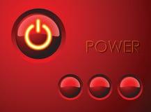 button ström röd Arkivbilder