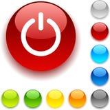 button strömbrytaren Arkivfoto